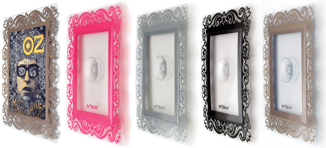 Artsux frames in Pink, gold, Silver and Black