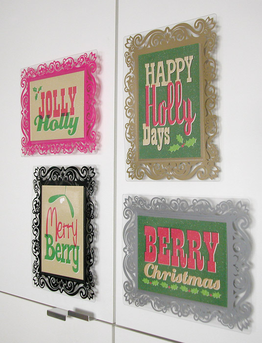 Artsux frames with christmas messages