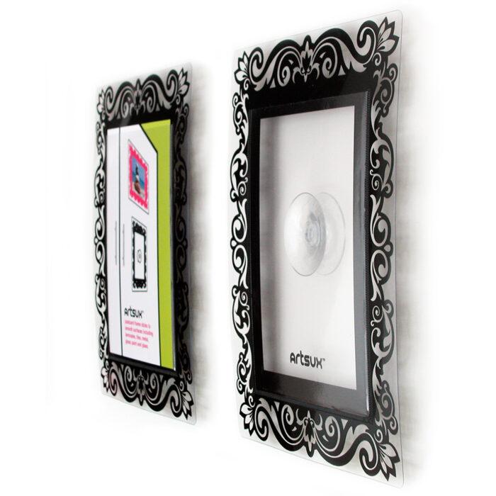 Black screenprinted suction frame