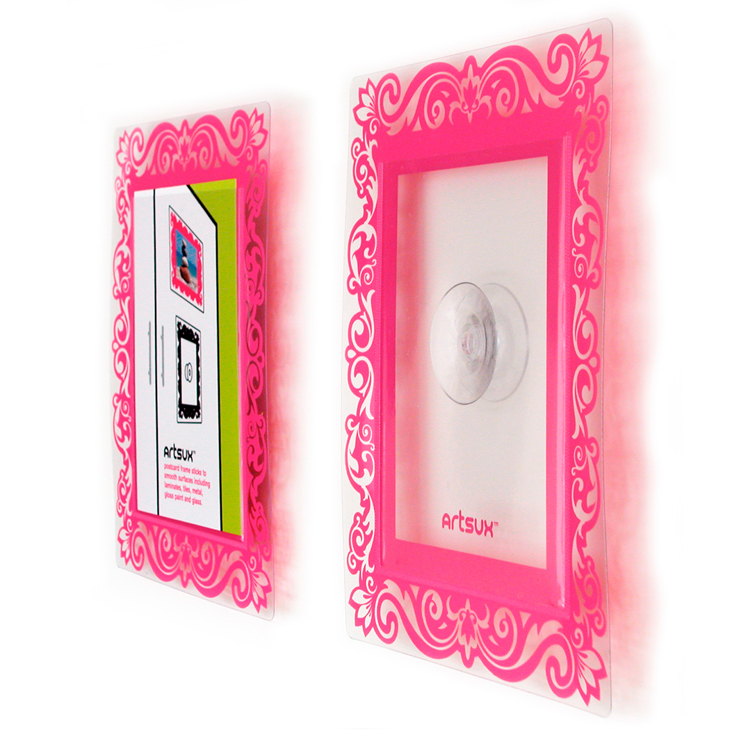 Pink Screenprinted suction frame