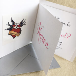 Fake tattoo invitation