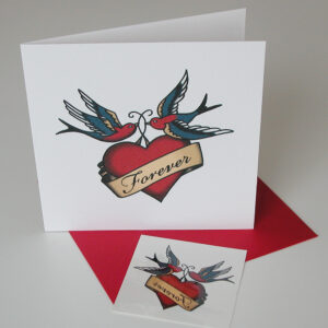 Forever tattoo card