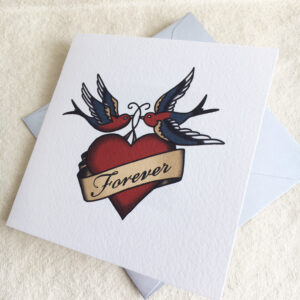 Forever tattoo wedding invite