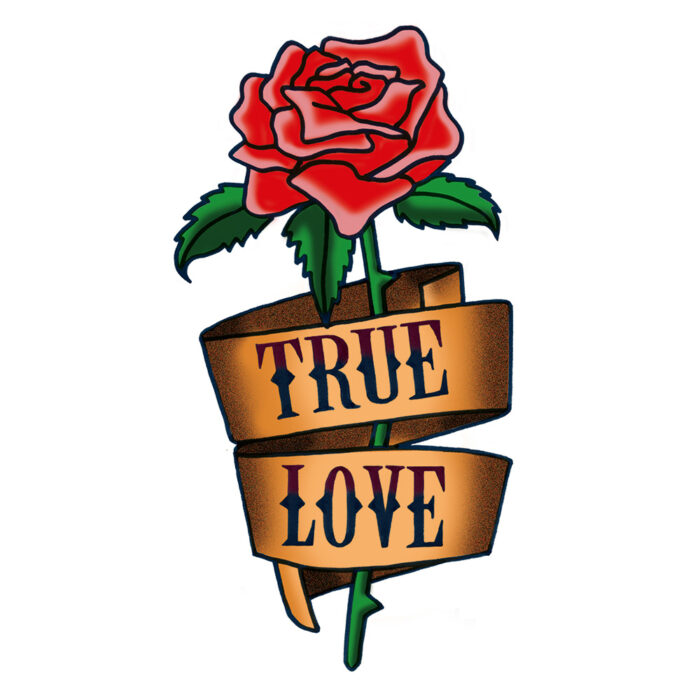 True Love rose tattoo