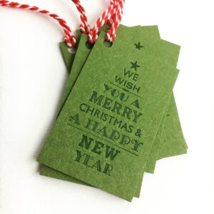 Letterpress gift tags by Broadbase