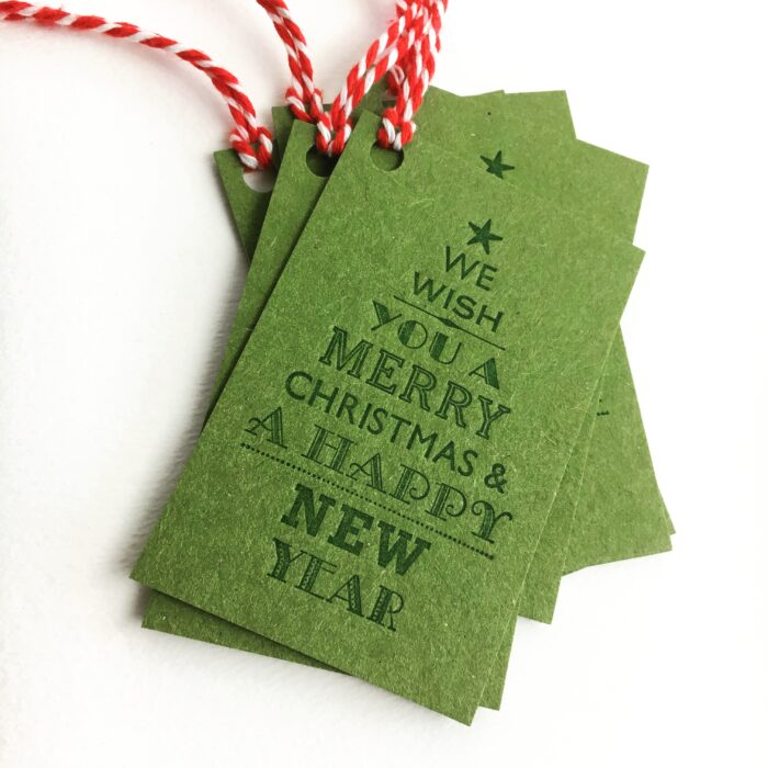 5 Letterpress gift tags by Broadbase