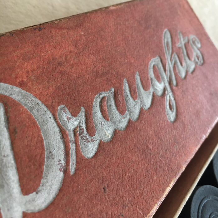 Vintage box of draughts