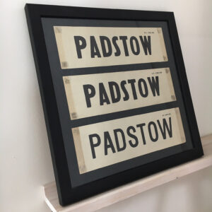 Padstow vintage British Rail carriage labels