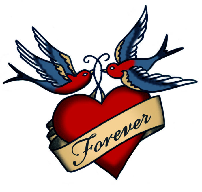 Forever swallow tattoo