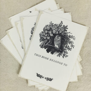 Wise owl bookplates