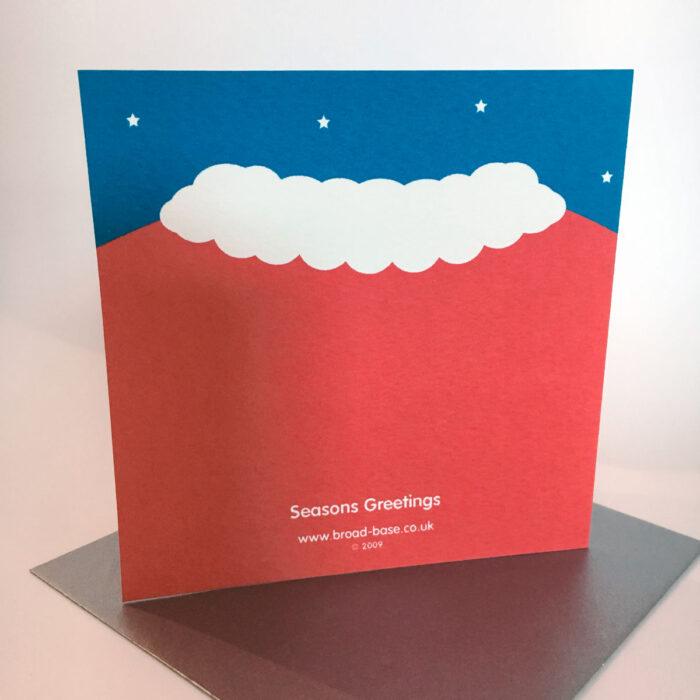Santa suit christmas card reverse