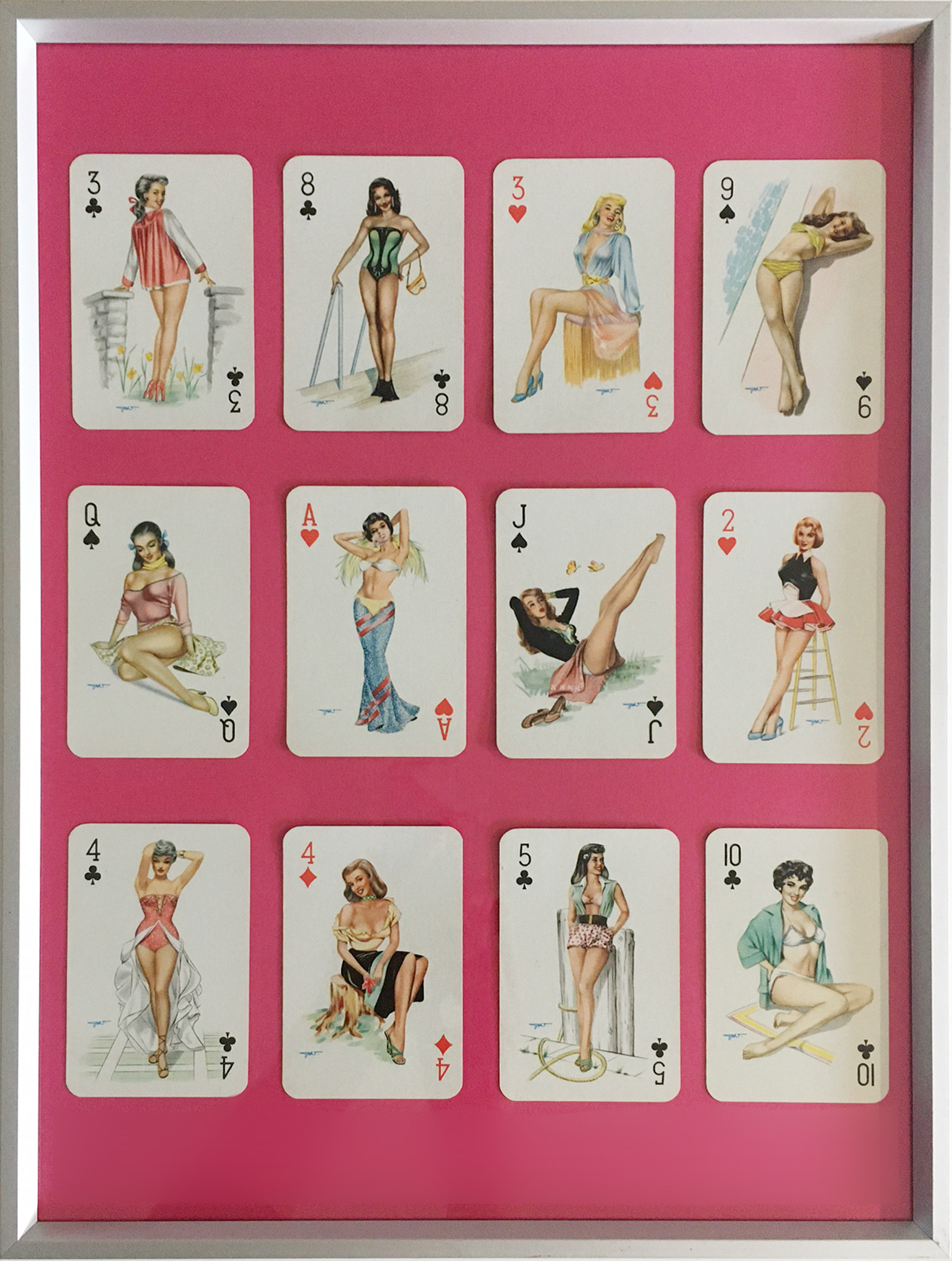 Heinz Villager pin-up girls, 1950s playing cards